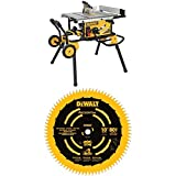 DEWALT (DWE7491RS) 10-Inch Table Saw, 32-1/2-Inch Rip Capacity + DEWALT DW3219PT 10-Inch 80T Fine Crosscutting Saw Blade