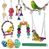 12PCS インコ おもちゃ バードトイ 鳥