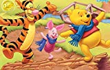 3D Wooden Puzzle Set 1000 Pieces - Winnie The Pooh Poster Album Iii - Diy Model Kits For Adults Teens And Children - Ideal Christmas And New Year Gift 38*26CM