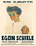 WallBuddy Egon Schiele Ausstellung Poster 1970 Museum