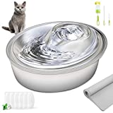 ORSDA Cat Water Fountain Stainless...
