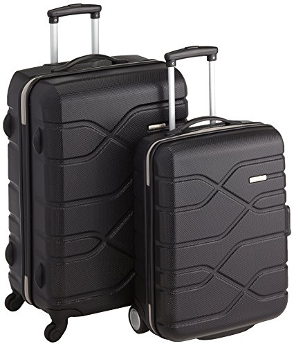 American Tourister Houston City 2 PC Set A da 2 Valigie, 70 cm, Nero