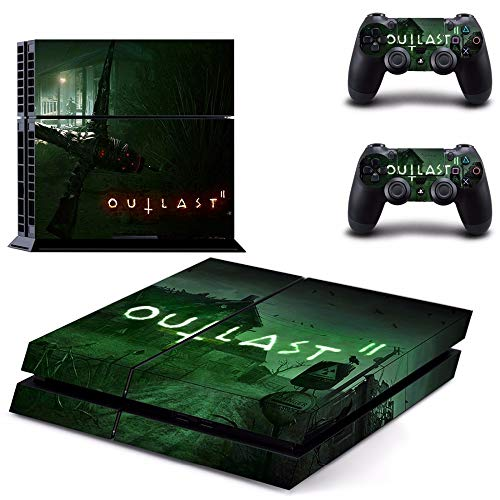 TSWEET Juego Outlast 2 Ps4 Skin Sticker Calcomanía para Playstation 4 Consola y 2 Controladores Ps4 Skins Sticker Vinilo