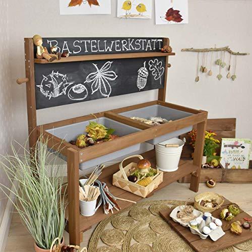 Meppi Matschküche Kleiner Gärtner, braun aus Holz, Outdoor-Küche - 8