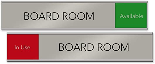 Board Room Slider Nameplate and Sign (Red/Green, 10 x 2)