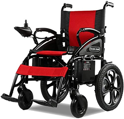 ROLLSTUHL Elektrisch Rollstuhl Intelligent Roller Gehhilfe Folding Licht Pflegestuhl Zum Alter Mann Behindert Beinstörungen Handy,Mobiltelefon/Rot / 97×67×96cm