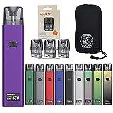 Aspire (アスパイア) Favostix Kit (ファボスティックス) QR日本語マニュアル+交換用POD(1.0Ω)1箱(3個入り)+FlavorKitchenオリジナルPODポーチセット (Amethyst Purple)