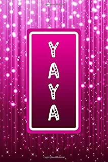 YAYA: Yaya Notebook, Pretty Personalized Medium Lined Journal & Diary for Writing & Note & Yaya Gifts idea