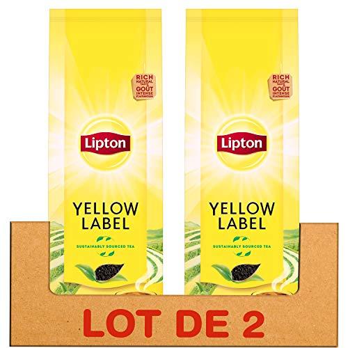 Lipton Thé Noir Yellow Label en Vrac, Goût Riche & Authentique, Label Rainforest Alliance, 200g (Lot de 2x200g)