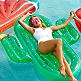 Hinchable Colchonetas Piscina Inflable flotador Gigante Inflable Cactus Piscina Flotador Playa Roja Tumbona Colchón De Aire Adulto Natación Anillo Agua Verano Partido Juguetes Green-180*140CM