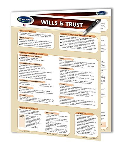 Wills & Trusts Guide - Quick Reference Guide by Permacharts