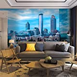 Wallpaper Wall Mural Atlanta Skyline with Ferris Wheel Self Adhesive Removable Peel & Stick Wall Decor Home Craft Wall Decal Wall Poster Sticker for Living Room