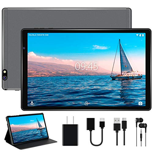 Facetel Q3 Pro 10 inch Tablet,Octa-Core Processor 1.6GHz,Android 9.0 Pie,3 GB RAM 32 GB Storage 128GB Extended Memory,10''IPS HD Display,Google Certification,5G Wi-Fi,Bluetooth,GPS,Metal Grey