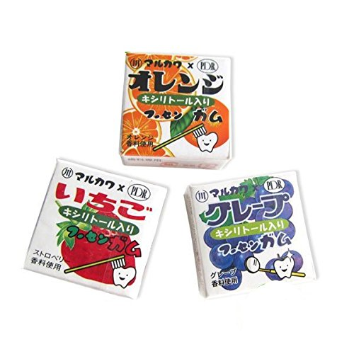 マルカワ キシリトール入り マーブルガム (4粒入り)×24個 (オレンジ)