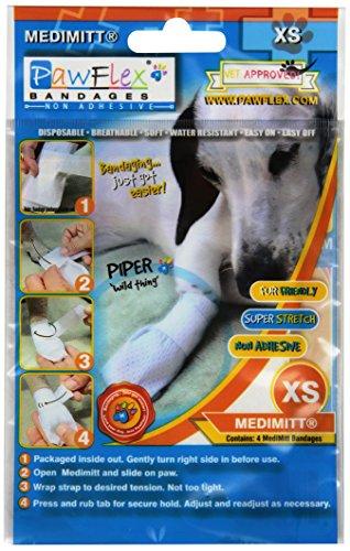 Pawflex Bandages Medimitt Bandages for Pets (Pack of 4) XSmall
