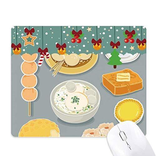 Hong Kong lokale keuken voedsel muismat spel Office Mat Kerstmis Rubber Pad