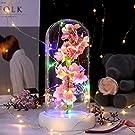 Shirylzee 桜 造花 LEDライト 枯れないさくら 誕生日 結婚 カラフルなライト 癒し雰囲気作り ホワイトデー 父の日 母の日 フラワー 結婚式 パーティー クリスマス お祝い 贈り物 プレゼント