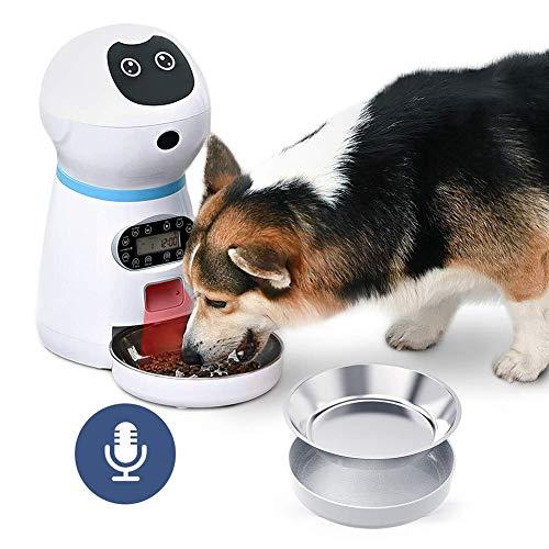 DealMux alimentador automático temporizador para gatos dispensador de comida comida seca para gatos contenedor de comida para mascotas almacenamiento de comida para gatos dispensador de comida seca p