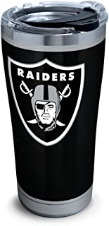 Tervis 1299953 NFL Oakland Raiders Rush Stainless Steel Tumbler,  20 oz,  Silver
