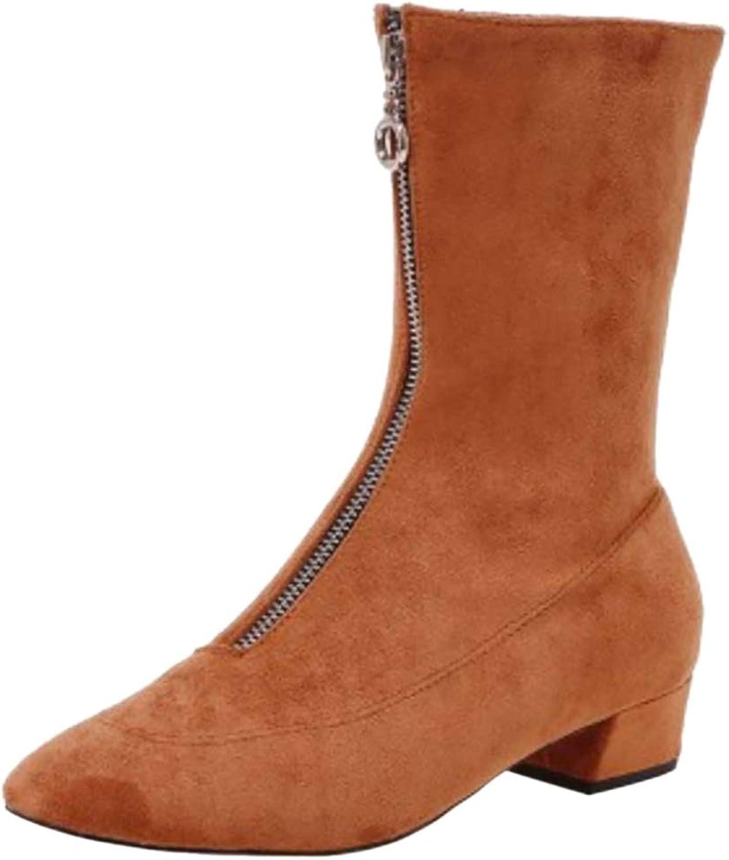 Kaizi Karzi Women Short Bootie Zip Dress shoes