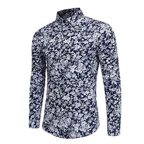 WWricotta LuckyGirls Camisa para Hombre Camisetas de Manga Larga Origi