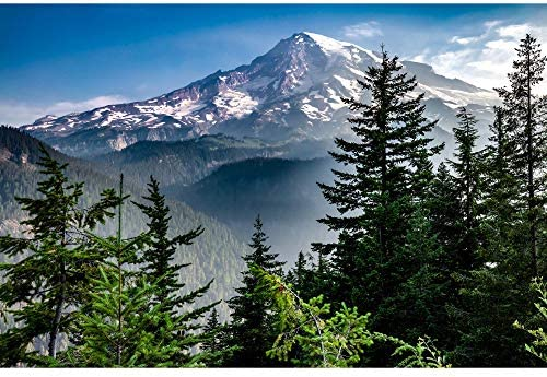 Utah Nature Photography 24x36 Inch Unframed High Definition Nature Art Poster Mount Rainier product image