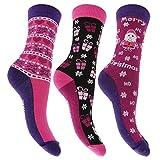 Universaltextilien Damen Socken mit Weihnachtsmotiven, 3 Paar (37-42 EUR) (Design 1)