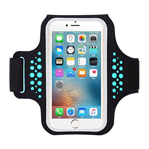 Guzack Fascia da Braccio Sportiva Running Armband Porta Scheda con Resistente all'Acqua Comparto Tasca Braccio per iPhone X 8 7 6 6s Plus Samsung S9 S8 S7 S6 Telefono fino a 5.8 Pollici Schermo