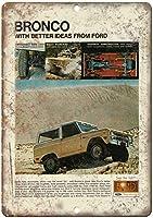 Ford Bronco Mono Beam Suspension ティンサイン ポスター ン サイン プレート ブリキ看板 ホーム バーために