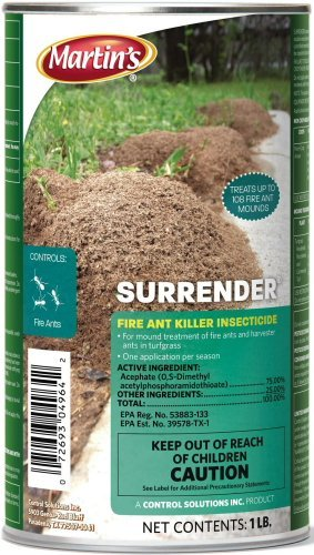 Control Solutions 100510160 Martin's Surrender Fire Ant Killer Insecticide, 1 lb