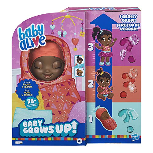 Baby Alive Baby Grows Up (Sweet) - Sweet Blossom or Lovely Rosie, Growing and Talking Baby Doll, Toy with 1 Surprise Doll and 8 Accessories