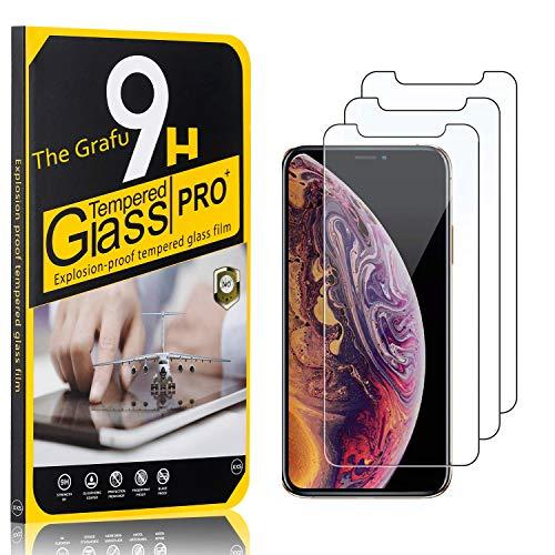 The Grafu Verre Trempé pour iPhone 11 Pro, Dureté 9H, Sans Bulles, Protection en Verre Trempé Écran pour iPhone 11 Pro, Film Protection Écran Vitre, 3 Pièces