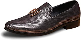 CHENDX Shoes Mens Fashion Light Soft Leather Drive Loafers Casual Hollow Breathable A Foot Pedal Boat Moccasins Color : Hollow Brown, Size : 9.5 M US