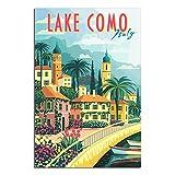 ASFGH Vintage-Reise-Poster mit Como-See, dekoratives