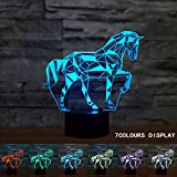 Coolzon 3D LED Illusion Lampe Veilleuse Enfants Tactile Lampe 7 Couleurs Changeantes...