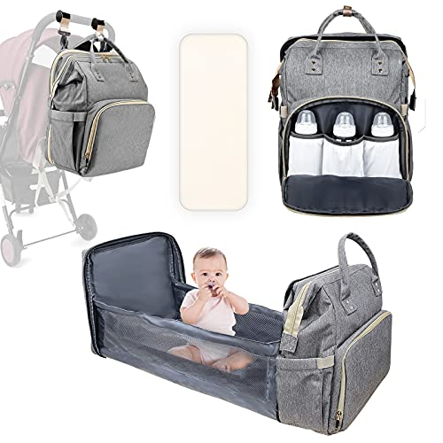Baby Changing Bag Backpack, MITMOR Baby Diaper bag with Travel Bassinet,...