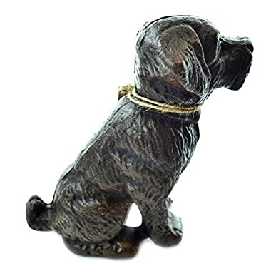 Lulu Decor, Cast Iron Dog Door Stopper, Doorstops, Sculpture, Dog Statue (Black 9.40 lbs)