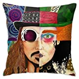 HATUO Johnny Depp Character Collage Bedroom Throw Pillow Covers Home Decorative Couch Sofa Square Pillow Case 18x18 in