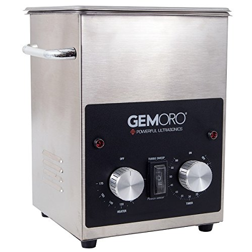 GemOro 2QTH Next Gen Stainless Steel Ultrasonic Jewelry Cleaner With Basket