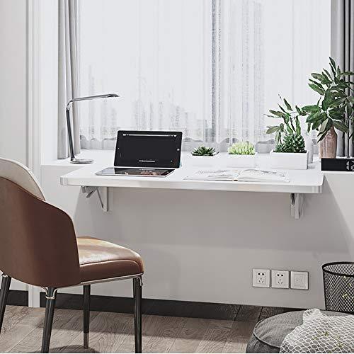 YZJJ Mesa Plegable de Pared, Portatil Mesa para Estudio, Mesa de Comedor, Mesa de Escritorio, Mesa de Oficina Blanco, Mesa de Pared Flotante para Garaje Cocina Lavanderia Bano Balcon