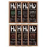 Hu Vegan Chocolate Bars | Gluten Free, Paleo, Non GMO, Kosher Dark Chocolate | 2.1oz Each (8-Pack Variety)