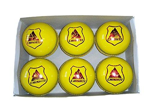 Indoor-Cricket-Bälle, 114 g, Gelb, 6 Stück