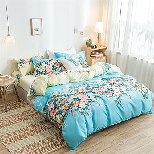 Ropa De Cama Textiles para El Hogar Funda Nórdica Impresa Funda De Almohada Tela Agradable para La Piel Suave Cómoda, Duradera Y Fácil De Limpiar 150x200cm