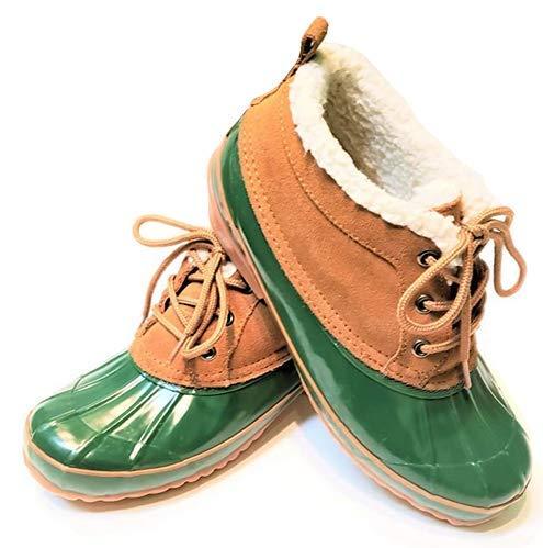 Green Duck Boot Bass Tamarack 9 Leather & Rubber Upper w/Steel Shank Snow Boot