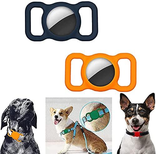 AXsmyi 2/4 Piezas Funda Protectora de Silicona para Mascotas, Seguimiento GPS Ajustable Accesorios para Perros y Gatos localizador Anti-perdida Airtags para niños Bolsas de Ancianos (B)
