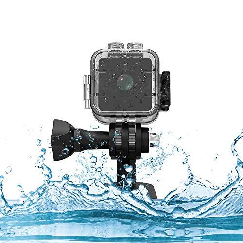 SQ12 Mini Full HD 1080P DV Sport Action Kamera mit IR Nachtsicht & Bewegungserkennung 32GB versteckte Spionagekamera Auto DVR Videorecorder Camcorder Schwarz