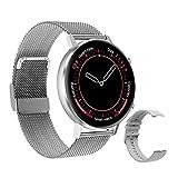 """Reloj Inteligente hombres y Mujeres, 1.3"""" IPS Pantalla Completa Táctil Pulsera Actividad, Smartwatch con Monitoreo de Frecuencia Cardíaca, Seguimiento del Sueño, Reloj de fitness para iOS Android"""