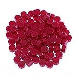 Juego de 100 perlas de cera para sellar, vintage, multicolor, octogonales, perlas de cera de colores, para sellar, vintage, para tabletas, pastillas, para sobres, sello de cera
