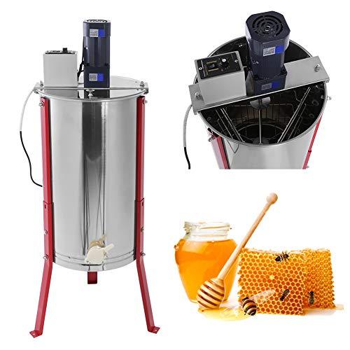 Zerone. Extracteur de miel électrique en acier inoxydable avec 3 cadres pour apiculteur