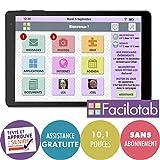 FACILOTAB Tablette L - WiFi - 16 Go - Android 8 - Marque ALCATEL - Interface...